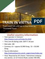 Train in Vietnam | Threeland Travel