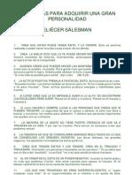 70 RECETAS PARA ADQUIRIR UNA GRAN PERSONALIDAD Eliécer Sálesman