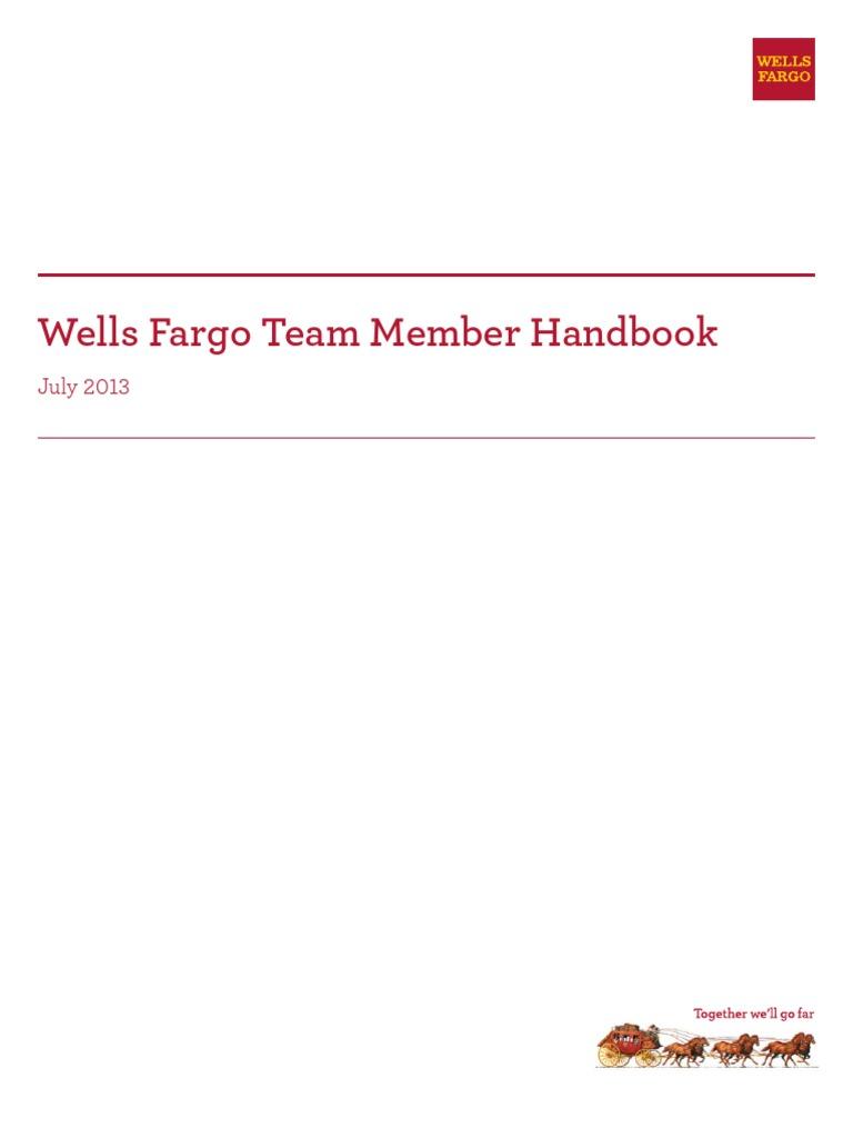 Wells Fargo Team Member Handbook