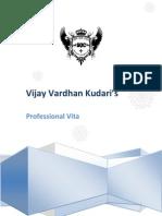 Professional Vita of Vijay Vardhan Kudari