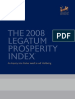 2008 Legatum Prosperity Index