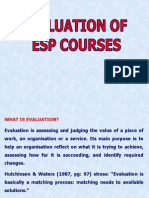 Esp Course Evaluation