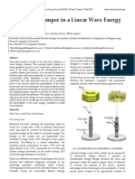 Axial Force Damper in a Linear Wave Energy Converter