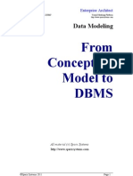 Data Modeling From Conceptual Model to DBMS