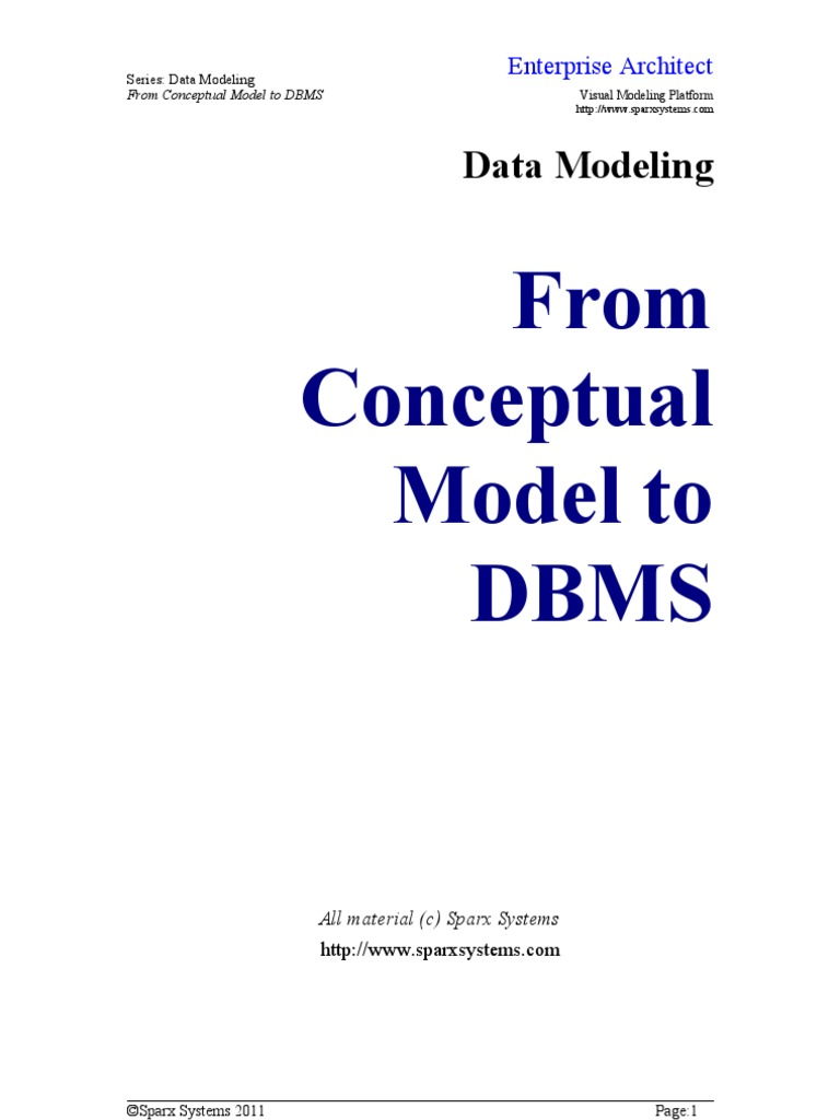 Data Modeling From Conceptual Model to DBMS | Conceptual