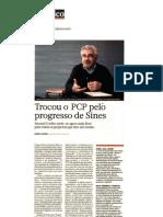 25-04-2009 - Semanário Económico - Manuel Coelho trocou o PCP pelo progresso de Sines