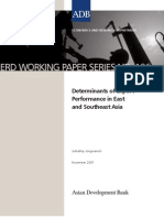 Determinants of Export Performance in East and Southeast Asia