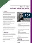 How to Make Concrete Bricks