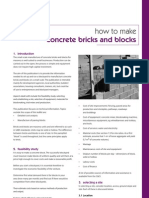 How to Make Concrete Bricks