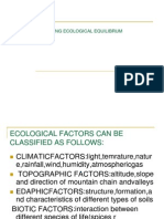 ISSUES AFFECTING ECOLOGICAL EQUILIBRUM