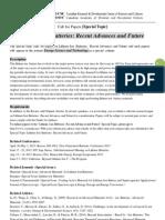 EST Special Topic-Lithium-Ion Batteries Recent Advances and Future