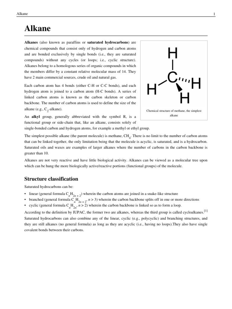 Alkanes pdf | Alkane | Conformational Isomerism