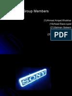 Project Presentation S O N Y