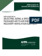 AHRI Guideline W 2005