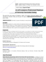 HESS Special Topic-Comparative Analysis of E-Commerce Professional Employee Needs and University Curriculum Setting