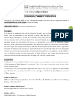 HESS Special Topic-The Automation of Higher Education
