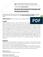 SLL Special Topic-Towards a Virtual Research Environment for Language and Literature Researchers