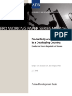 Productivity and Employment in a Developing Country