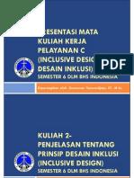 SS-20130805-PPT Course 2- Penjelasan Prinsip Desain Inklusi