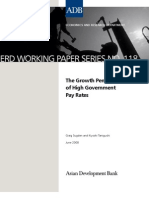 The Growth Penalty of High Government Pay Rates