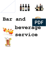 Bar and Beverage Service