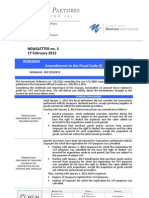 BP Newsletter 3_2012 Amendments to the Fiscal Code