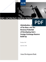 Globalization, Erosion of Tax Base, and the Revenue Potential of Developing Asia's Foreign Exchange Reserve Build-Up
