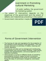 Govt Support in Agri Mktg