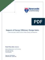 Impacts of Energy Efficiency Design Index