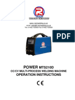 Manual MIG TIG ARC Welder MTS210D Manual