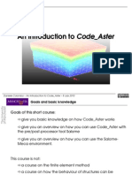 An Introduction to Code Aster