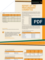 15 Report of the Procurement Committee