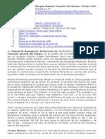 MANUAL DE NAVEGACION guia Masmar Ecuación del tiempo