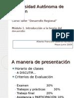 Clase 1. Introducción a la teoría del desarrollo