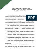 Rolul Nursingului Comunitar in Prevenirea Si Combaterea Bolilor Cardiovasculare