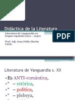 Didáctica de la LiteraturaVanguardias
