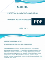 PSICOTERAPIA COGNITIVA ORÍGENES 2013