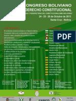 Convocatoria Segundo Congreso Boliviano de Derecho Constitucional 2013