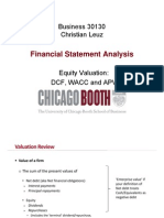Equity Valuation DCF, WACC and APV