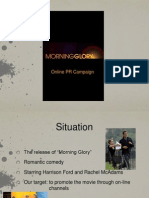Morning Glory Movie - Social Media PR campaign