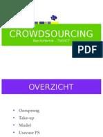 Presentatie Bas Kotterink van TNO over crowdsourcing-model