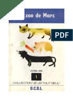 Je lis tout seul Série 08 No 01 Le zoo de Marc 1970