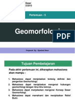 Pert 5 Geomorfologi