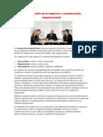 Comunicación en la empresa o comunicación organizacional