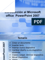 Introducción al Microsoft office  Powerpoint 2007