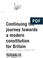 Continuing the Journey Towards a Modern Constitution for Britain