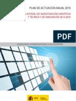 Plan Actuacion Anual 2013