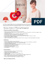 Vip Business Analyst in IT Planning Management555
