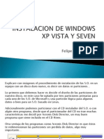 Instalacion de Windows Xp Vista y Seven