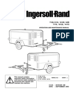 Ingersoll rand Portable Diesel Compressor Operation Manual